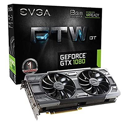 EVGA GeForce GTX 1080 Founders Edition, 8GB GDDR5X, LED, DX12 OSD Support (PXOC) Graphics Card 08G-P4-6180-KR from EVGA