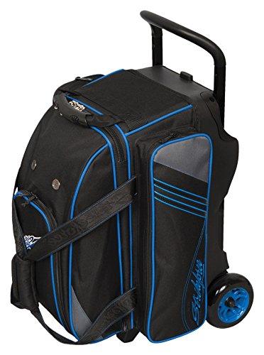 KR Strikeforce LR2 Double Roller Bowling Bag, Black/Grey/Royal