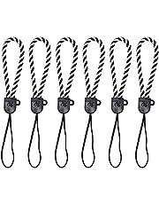 Mini Skater 6Pcs 4 inch Small Hanging Strap Lanyard Nylon Strap String for USB Flash Drive Camera Cell Phone Purse Keys (Black)