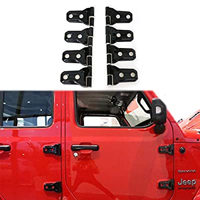 BESTAOO Door Hinge Covers for Jeep Wrangler JL 2020-2020 Unlimited Rubicon Sahara Sports Accessories (Black): Automotive
