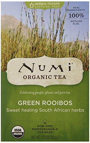 Numi Organic Tea Green Rooibos - Herbal Teasan in Teabags, 18-Count Box (Pack of 6)