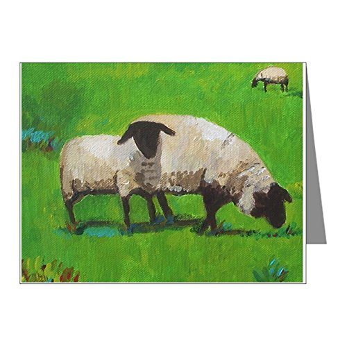- CafePress - Sheep In The Meadow Notecards - Blank Note Cards (Pack of 20) Matte