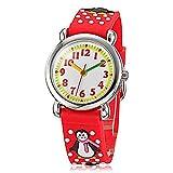 Fashion Brand Quartz Wrist Watch Baby Children Girls Boys Watch Penguin Pattern Waterproof Watches