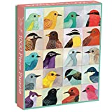 Galison Avian Friends 1000 Piece Puzzle - Finished Puzzle Measures 20' x 27' and Features 20 Fine Art Bird Illustrations