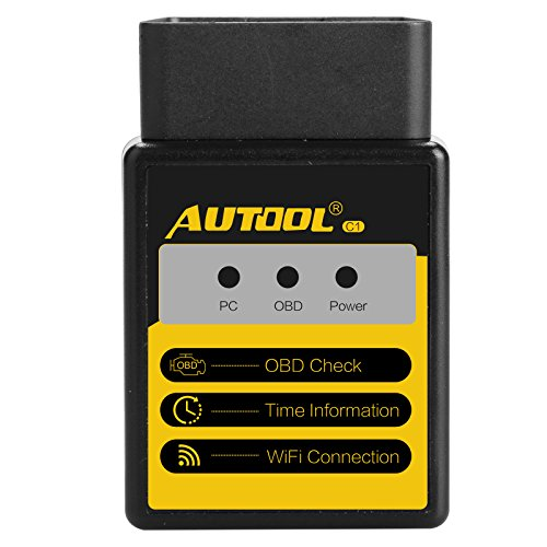 Shopper Trim (AUTOOL WIFI Wireless Fault Code Reader OBD Scanner C1 V1.5 OBD-II Code Scanner OBD2 Auto Car Diagnostic Scan Tool for Elm327 Support for IOS and Android for Torque)