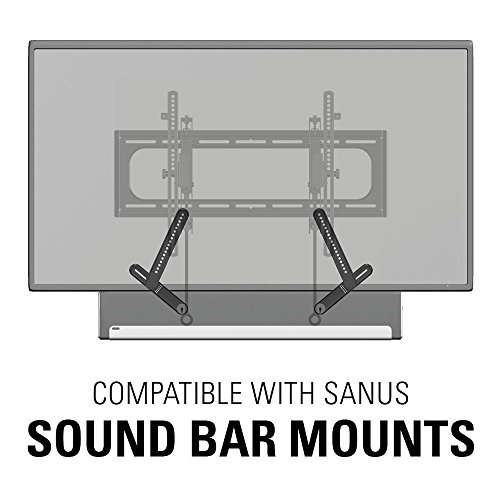 "51cArAO1IJL - Sanus Advanced Tilt Premium TV Wall Mount Bracket for 46"" – 90"" flat-panel TVs - Extends 5.7"" from the Wall - VLT6-B1"