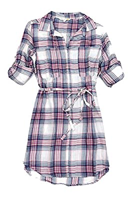 C & C California Women's V Neck Shirt Dress