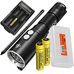 NITECORE has created the ultimate diving light with the new, NITECORE DL10 that's capable of reaching depths up to 30 meters deep. This powerful flashlight uses a CREE XP-L HI V3 that produces a 1000 lumens, illuminates up to 243 yds and prov...
