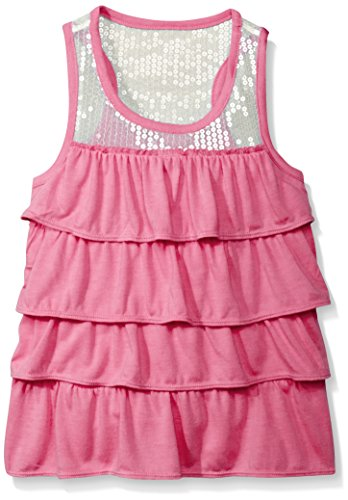 Dream Star Little Girls Sequin Yoke Tiered Racerback