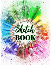 Sketch book: Large Journal Sketchbook With Blank Pages For Drawing And Sketching: Novelty Artist Edition ( Stylish Color Pencil Watercolor Cover )