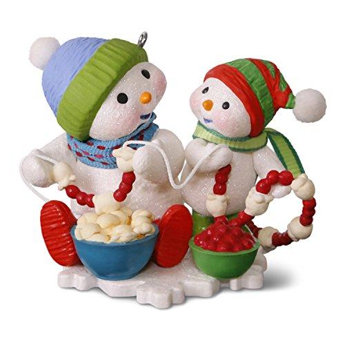 Hallmark Keepsake 2017 Making Memories Garland Giggles Stringing Popcorn Christmas Ornament (Ornaments Christmas Garland)