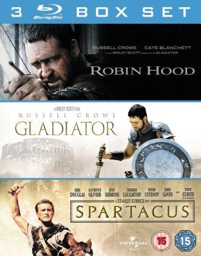 Robin Hood / Gladiator / Spartacus (3 Film Box Set) [Blu-ray] by