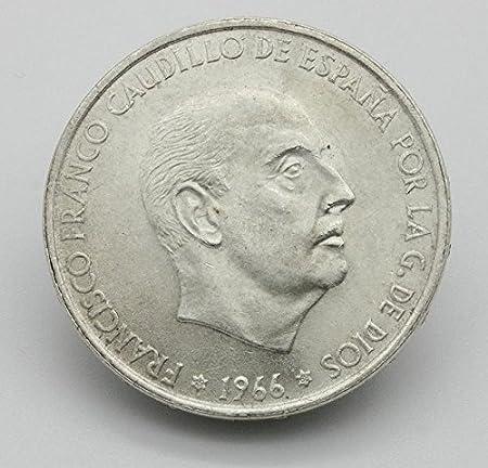 Desconocido 100 Pesetas en Plata del Año 1966. Moneda Coleccionable. Moneda de Colección. Moneda de Plata: Amazon.es: Juguetes y juegos
