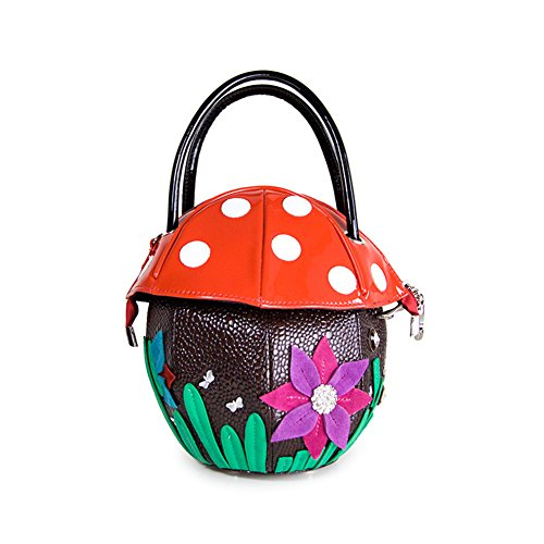 47sto Europe Ladies Cute Mushroom Vogue Flower Shoulder Handbag Bag