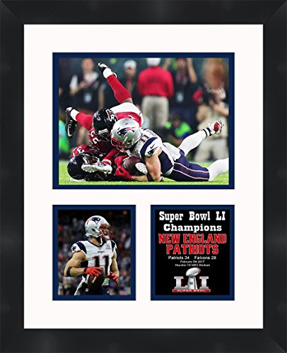 (Frames by Mail Super Bowl LI (51) 2016 Julian Edelman New England Patriots Matted & Framed Photo Collage, White)