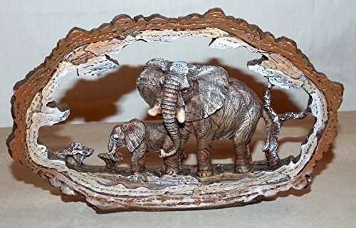 NEW AFRICAN ELEPHANT STATUE DECORATION WILDLIFE COLLECTIBLE SAFARI FRAME 7
