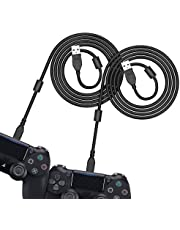 [3M 2 Pack] PS4 Controller Charging Cable 6amLifestyle, Charge and Play, Micro USB Charger High Speed Data Sync Cord for Sony Playstation 4 PS4 Slim/Pro Controller, Xbox One S/X Controller, Android