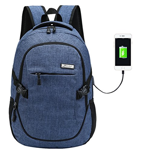 Amazon.com: Super Modern Unisex Nylon School Backpack with USB Charger Port Laptop Bag for Teen Girls and Boys Cool Sports Backpack: Computers & Accessories