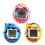 OHTOP 1Pc 90S Nostalgic 49Pets Virtual Cyber Pet Game Child Toy Keychain