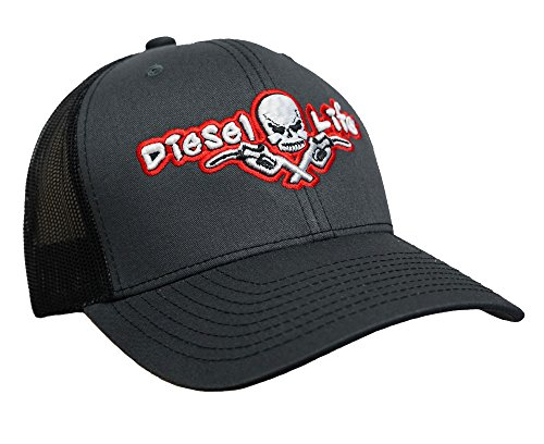 Diesel Life Snap Back Hat - Black/Charcoal/Red