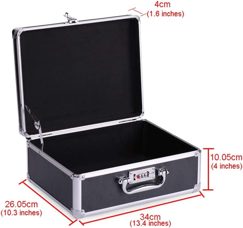 Tool Boxes Aluminum Alloy Portable Toolbox Aluminum Briefcase Hard-sided with Combination Locks Toolbox Household Tool Organizers/Storage Box (Color : Silver-a) Silver-b