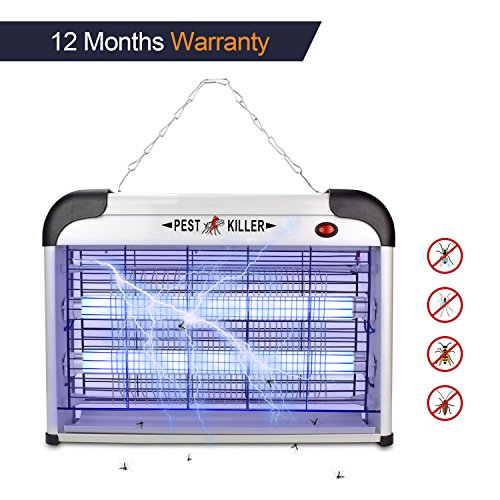 Multi Insect Killer - Micnaron Electric Bug Zapper/Pest Repeller Control-Strongest Indoor 2800 V 6000ft² UV Lamp Flying Fly Insect Killer Mosquitoes Flies Killer Repellent Traps Eliminator Catcher lure Zap kills Mosquito