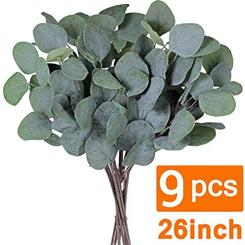 9 Pcs Artificial Eucalyptus Leaves Stems 26