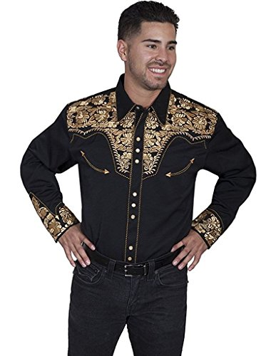 scully-mens-floral-embroidery-retro-western-shirt-jet-small