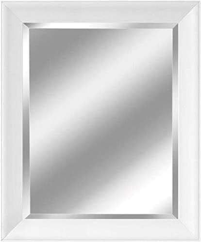Head West Contemporary White Frame Mirror, 28-1 2 by 34-1 2-Inch