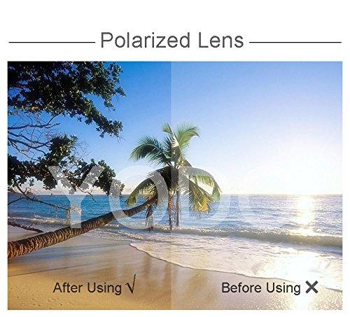 Yodo Over Glasses Sunglasses with Polarized Lenses for Men and Women,Grey