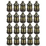 AAF Vintage Style Light Socket Antique Bronze Lamp Holder E26 / E27, Pack Of 20
