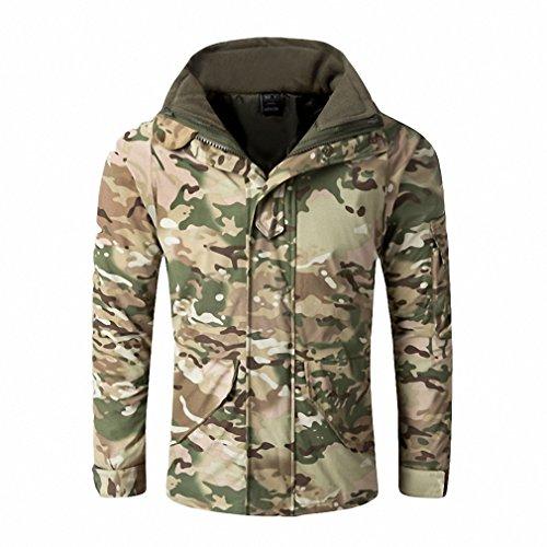 G8 Windbreaker, Tactical Army Camouflage Coat, Warm Fleece inside, Military Jacket Waterproof Clothes, Men Jackets CP XXXL (Xxx Cp Set)