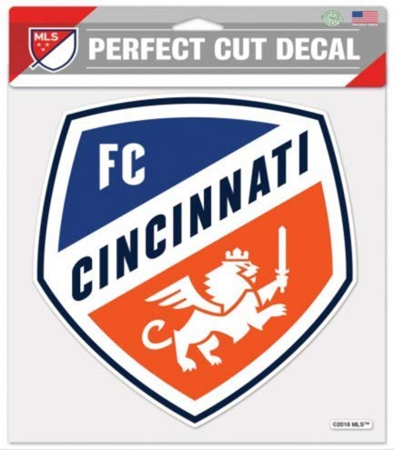 MLS FC Cincinnati 8x8 inch Perfect Cut Color Decal
