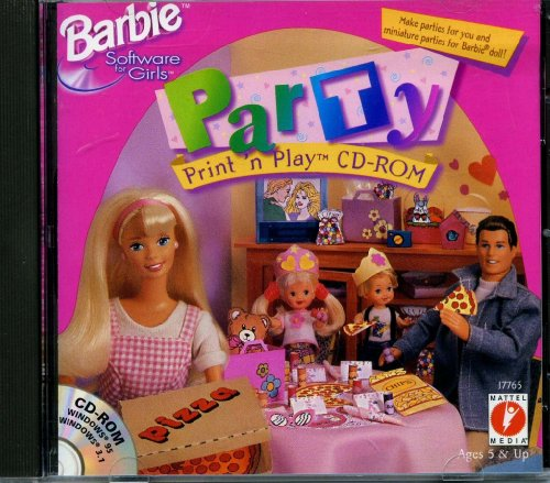 barbie-software-party-print-n-play-cd-rom-for-windows-pc-mattel