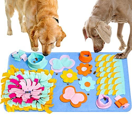 JOLVVN Hunde Spielzeug Schnüffelteppich Hundespielzeug Fütterungsmatte, Riechen Trainieren Trainingsmatte Snuffle Mat…