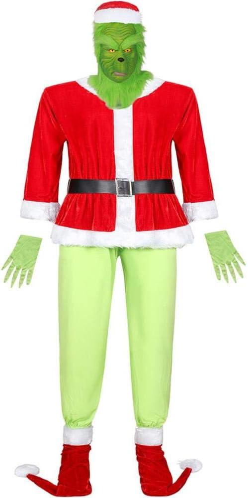 COSPLAYYL Navidad Traje Hombres Traje Santa Claus Monstruos Verdes ...