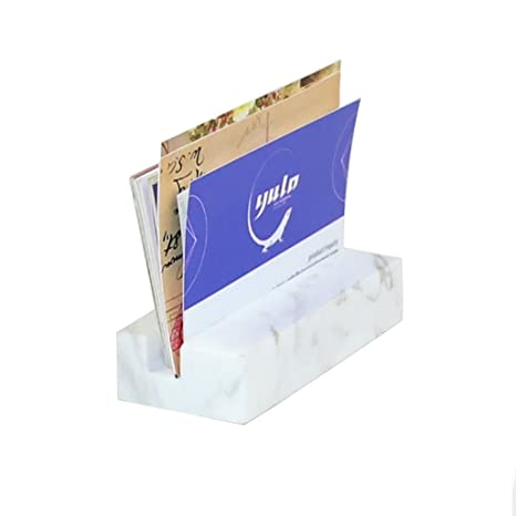 Amazon Lieomo White Marble Business Card Holder Office Desk Id