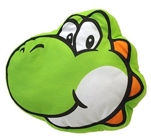 - Little Buddy Super Mario Bros. 1260 Yoshi Face Stuffed Plush Cushion, 12