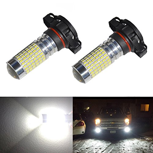 JDM ASTAR 1200 Lumens Extremely Bright 144-EX Chipsets H16 5202 TYPE 1 LED Bulbs with Projector for DRL or Fog Lights, Xenon White