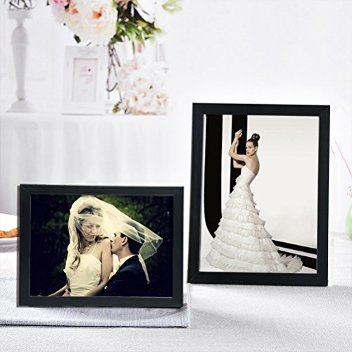 giftgarden 8x10 picture frame multi photo frames set wall or tabletop display black 7 pack. Black Bedroom Furniture Sets. Home Design Ideas