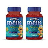 Vitamin Friends - Focus Supplement for Kids (60 Count) Smart Parents Support Memory Improvement and Mental Performance in Children, 100mg Phosphatidylserine (Sharp PS) Nootropic (2 Pack)