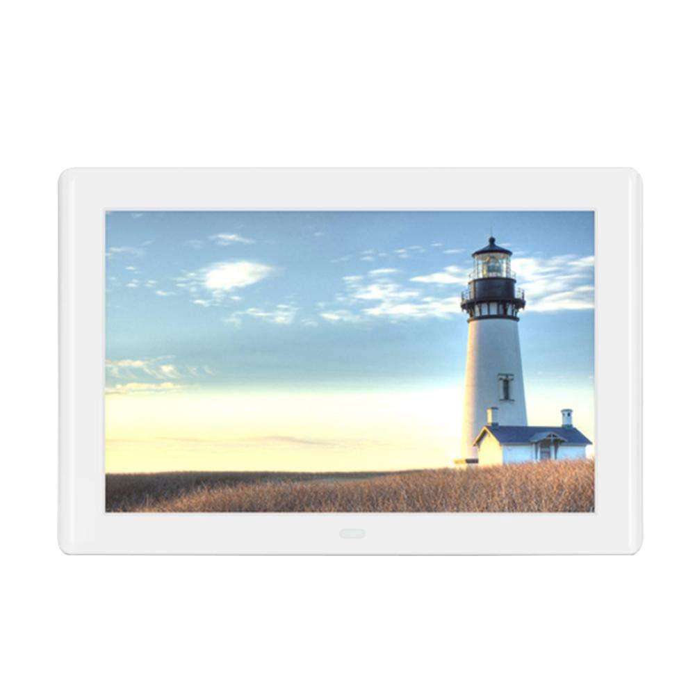 KOBWA Cadre Photo Numérique 1080P HD Cadre photo numérique,Album Photo Digital, Lecture de Photo en Horizontal/Portrait Horloge/Calendrier/Réveil, Prise en Charge de la Carte SD USB, avec Télécommande product image