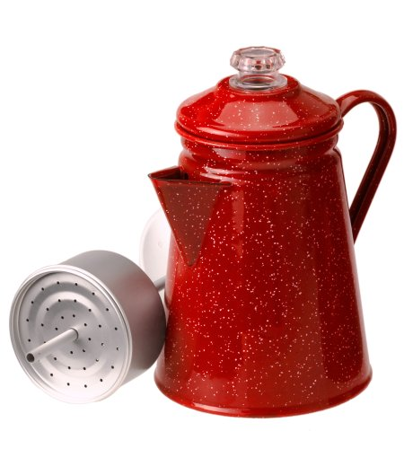 enamelware coffee percolator - 2