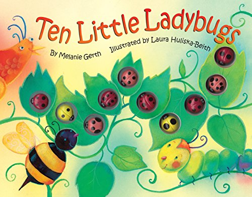 Bendon 45600 Piggy Toes Press Ten Little Ladybugs Counting Storybook