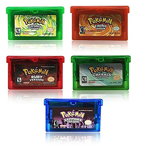 Price comparison product image GBA Game Card Sapphire / Emerald / FireRed / LeafGreen / Ruby POKEMON Pocket Monster Pocket Monster (5PCS)
