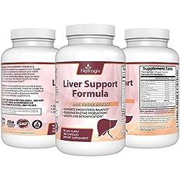 Liver Detox & Liver Health Support Formula, Milk Thistle & Beet, Artichoke, Dandelion etc Potent Useful Ingredients Assist Liver Detoxification & Digestive Enzyme Production, Help Balance Cholesterol