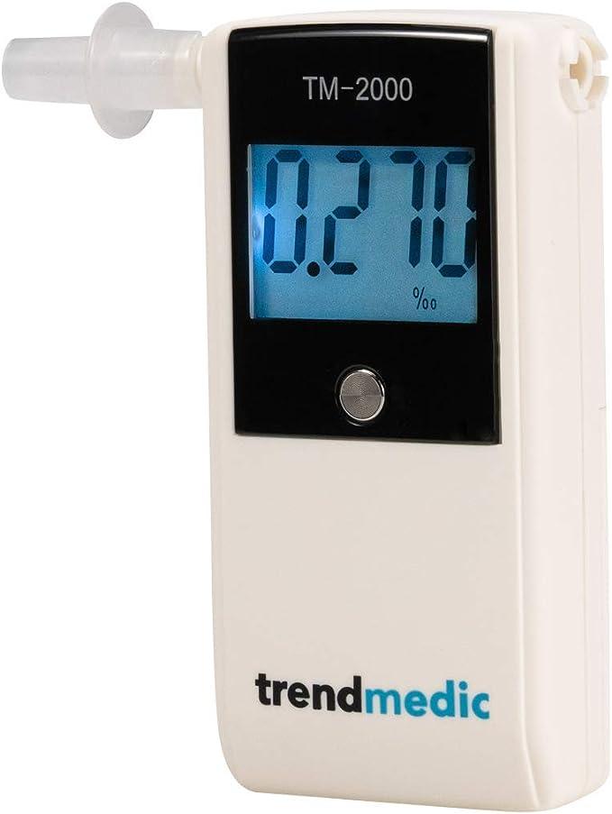 Trendmedic Alkoholtester Tm 2000 Mit Elektrochemischen Sensor Polizeigenau Anzeige In Promille Auto