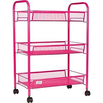 3 tier utility cart kitchen storage with rolling wheels metal mesh wire basket. Black Bedroom Furniture Sets. Home Design Ideas