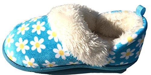 Blue Daisy Toddler Girls Slippers Medium 7-8