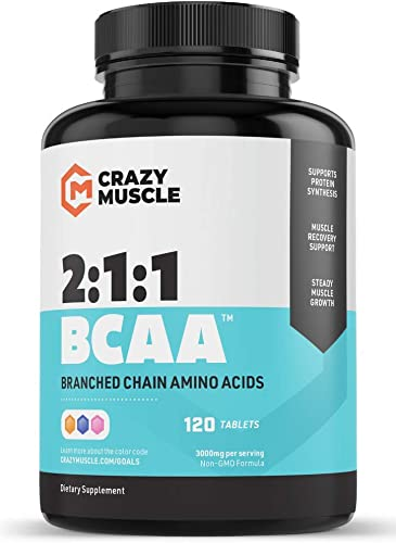 Keto Friendly BCAA Capsules 1000mg Pre and Post Workout Supplement with Essential Branched Chain Amino Acids, Improve Muscle Recovery, Boost Energy 120 Pills